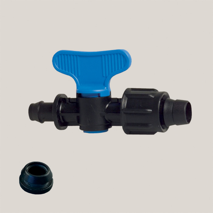 Robinet simplu pentru banda de picurare 17 mm Aquafix