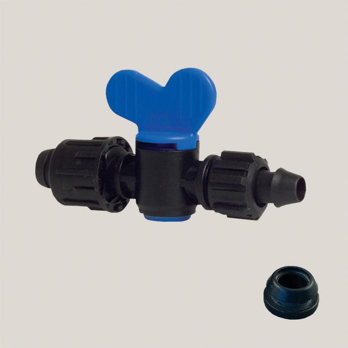 Robinet cu capac pentru banda de picurare 17 mm Aquafix