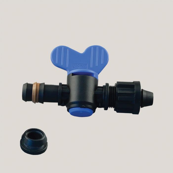 Robinet pentru tub de picurare cu garnitura 16 mm Aquafix