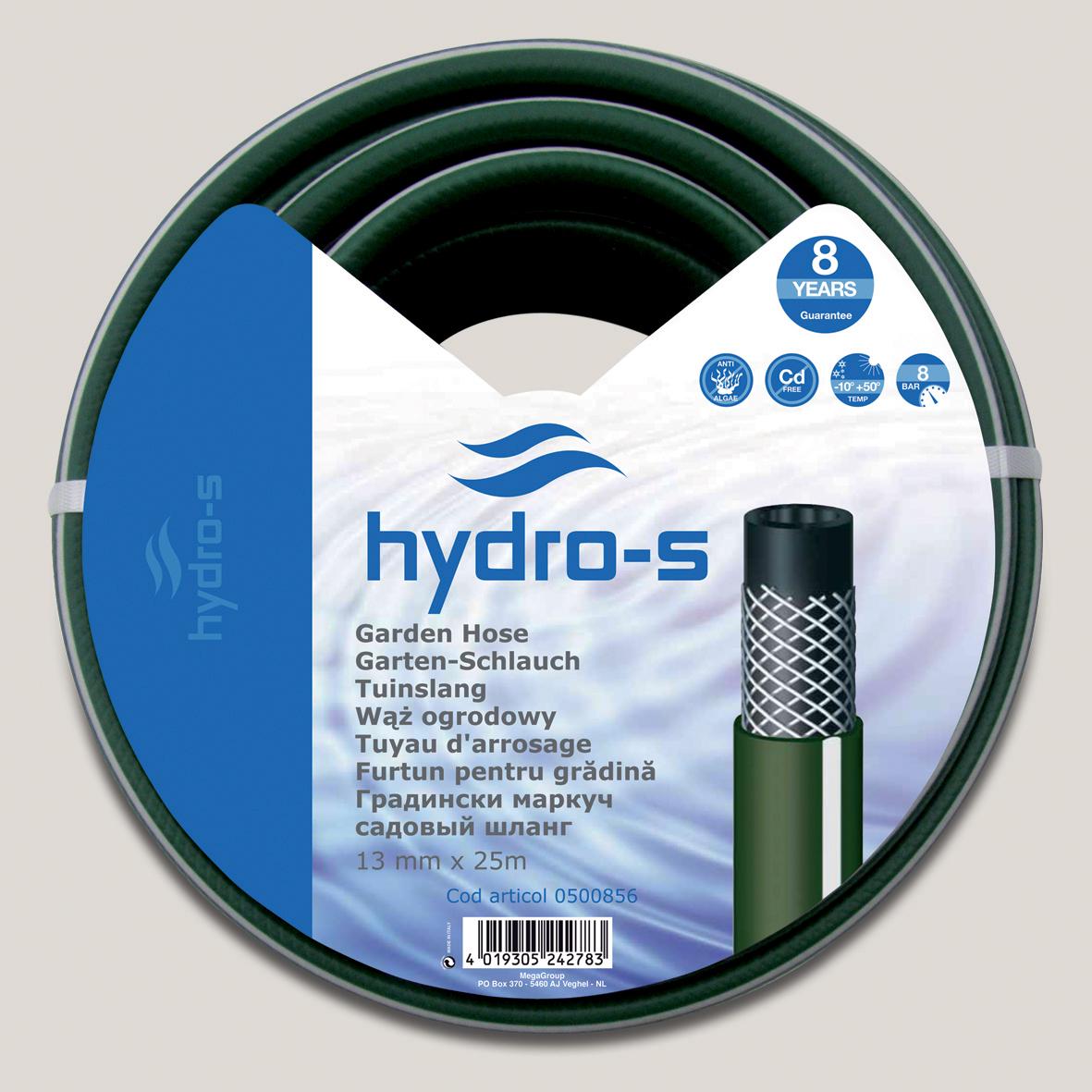 """Furtun pentru gradina Hydro-S 12.5 mm (1/2"""") x 25 m (25m)"""