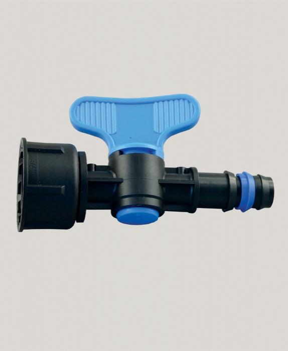 "Robinet pentru tub de picurare cu FI 16 mm x 3/4"""