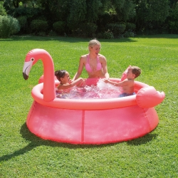 Piscina cu inel gonflabil Summer Waves QS 183x51cm Flamingo