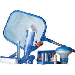 Set pentru curatare piscinelor cu filtru cu cartus