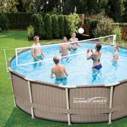 Plasa Volei Summer Waves pentru piscine cu cadru metalic