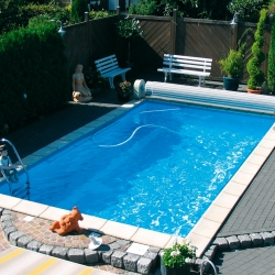 Set piscina dreptunghiulara 45 m³